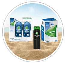 NICORETTE® Kaugummi und Spray für den Urlaub